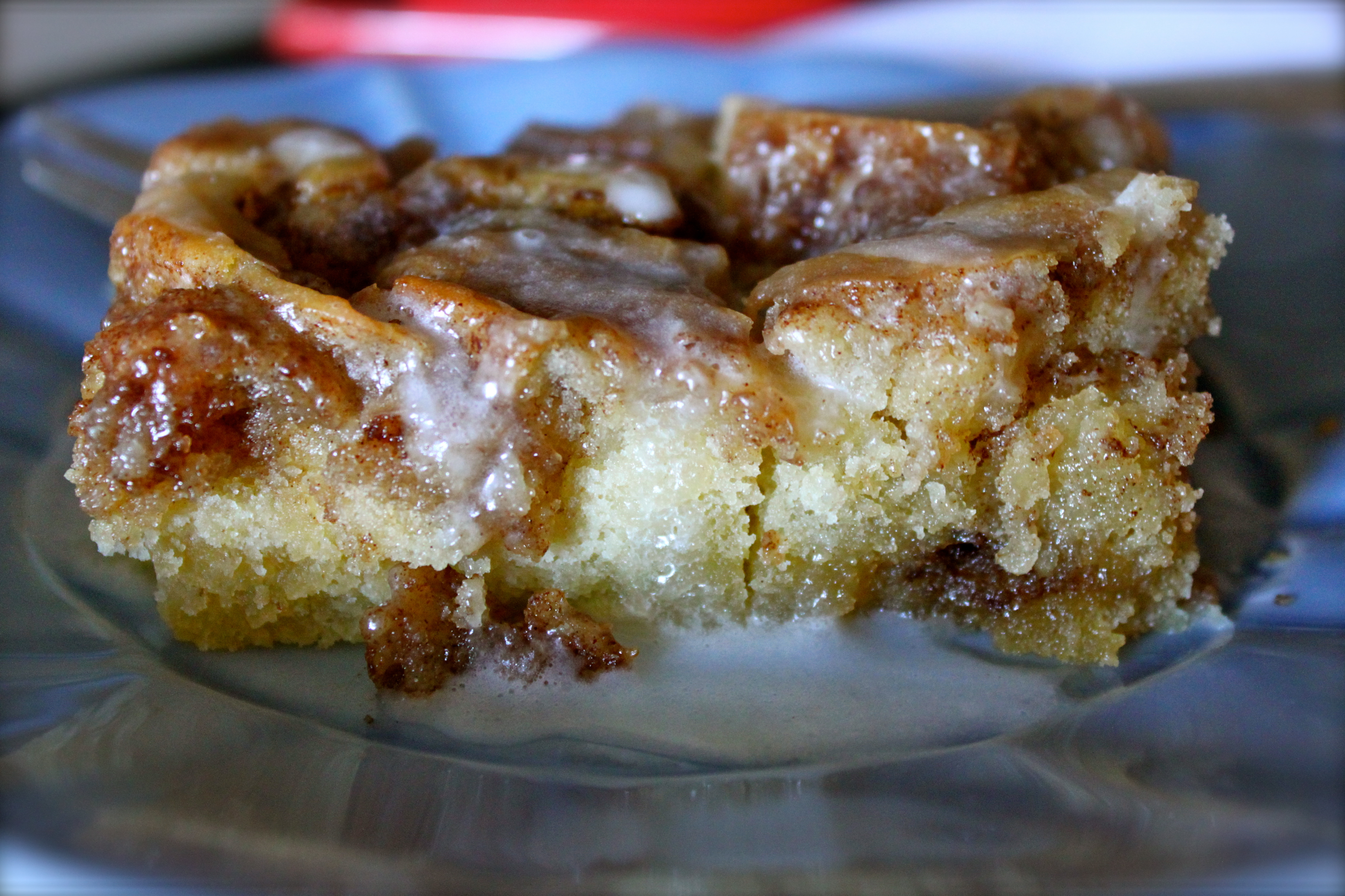 mondays menu cinnamon roll cake burlap and crystal