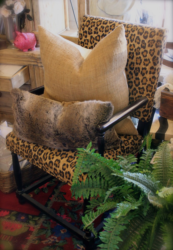 leopard chair bon bon home