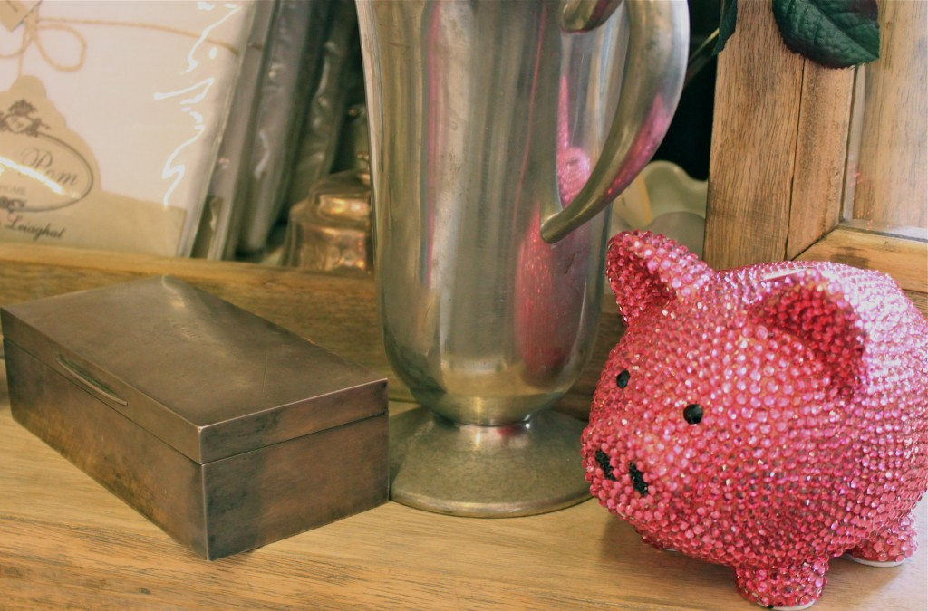 pink bling pig bon bon home
