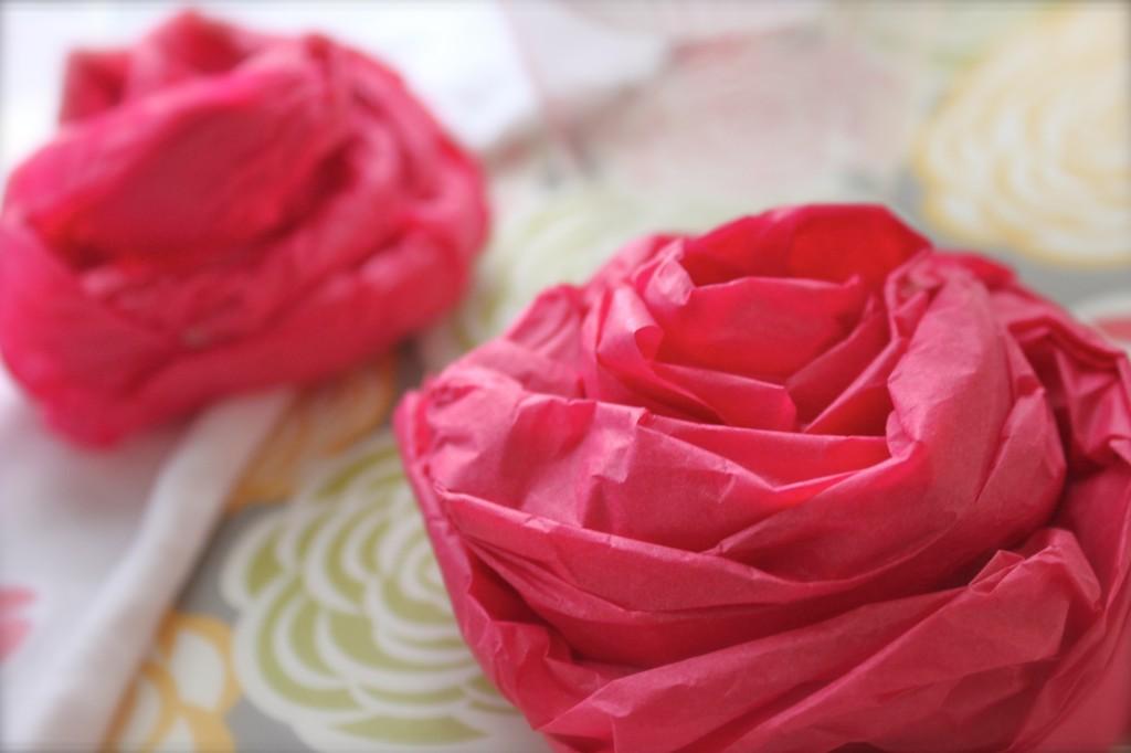 tissue paper frosting flower