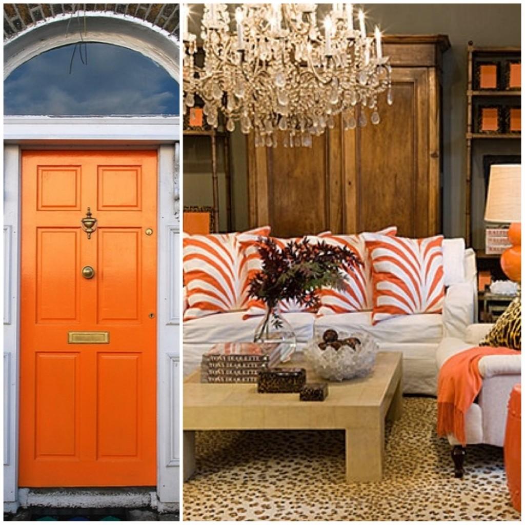 orange door and room