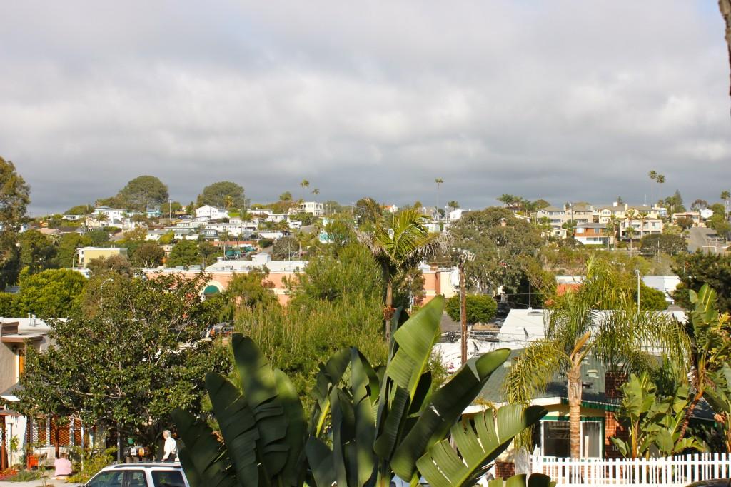 California front yard view