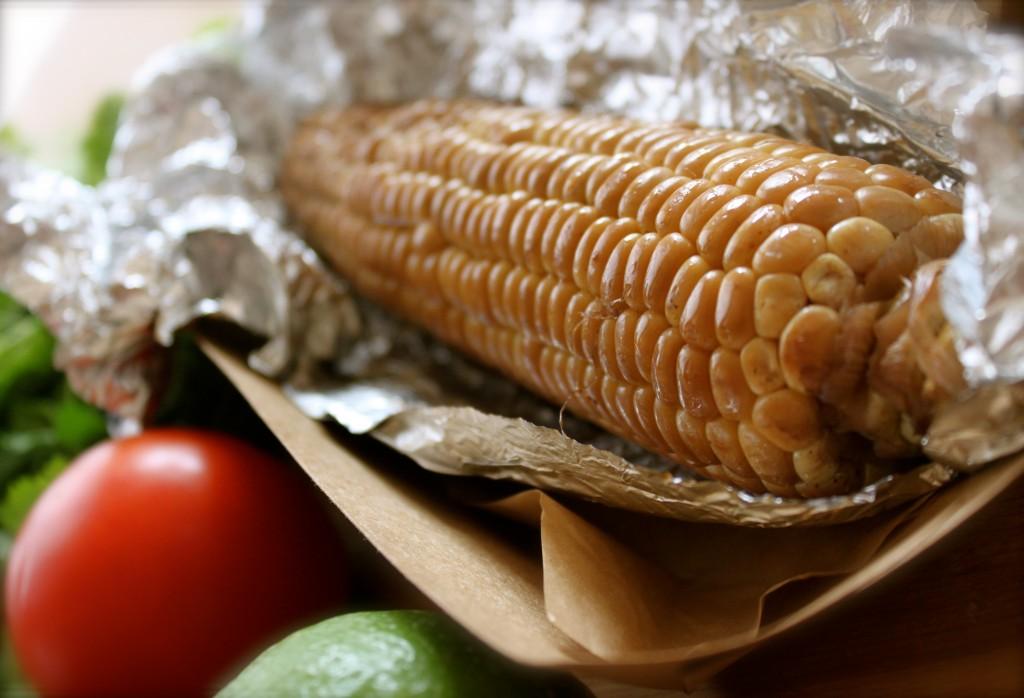 smoked corn corn cakes