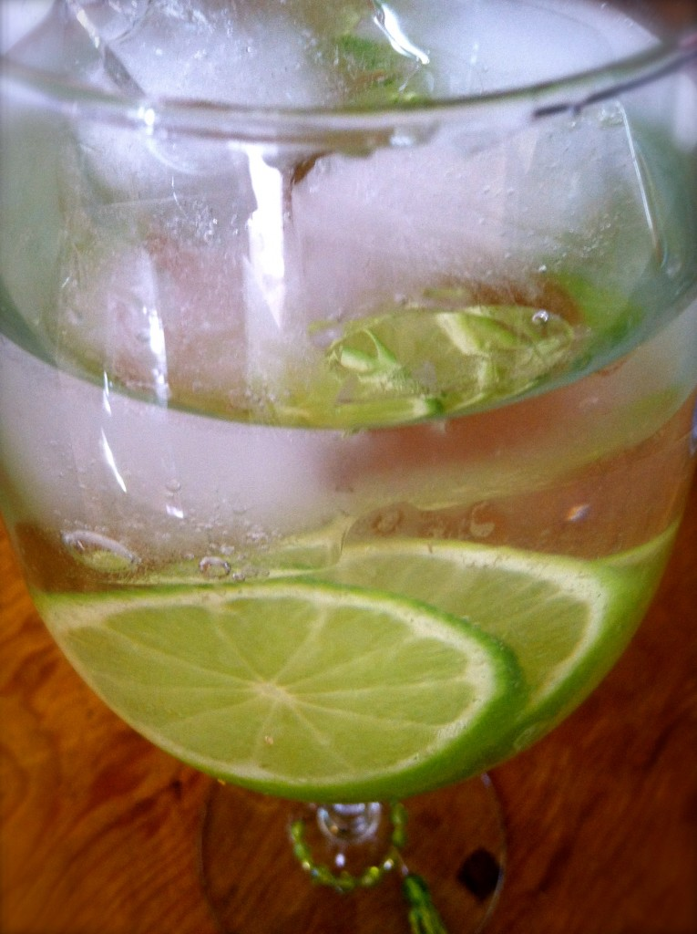 water infused with lime