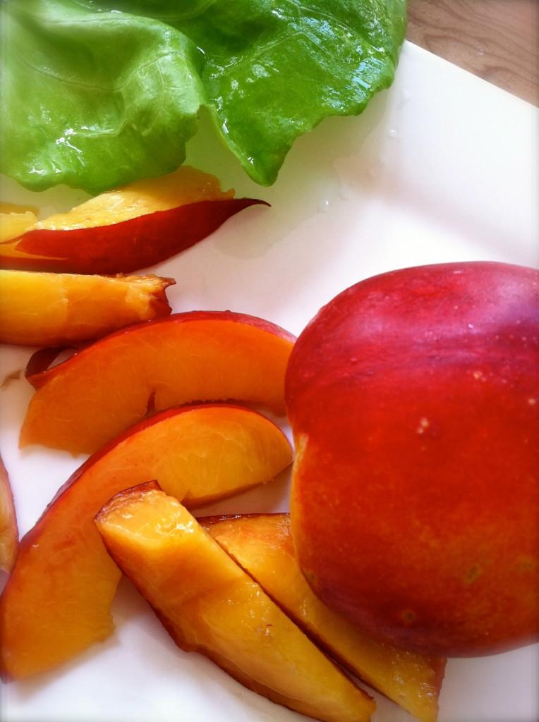 california nectarine salad