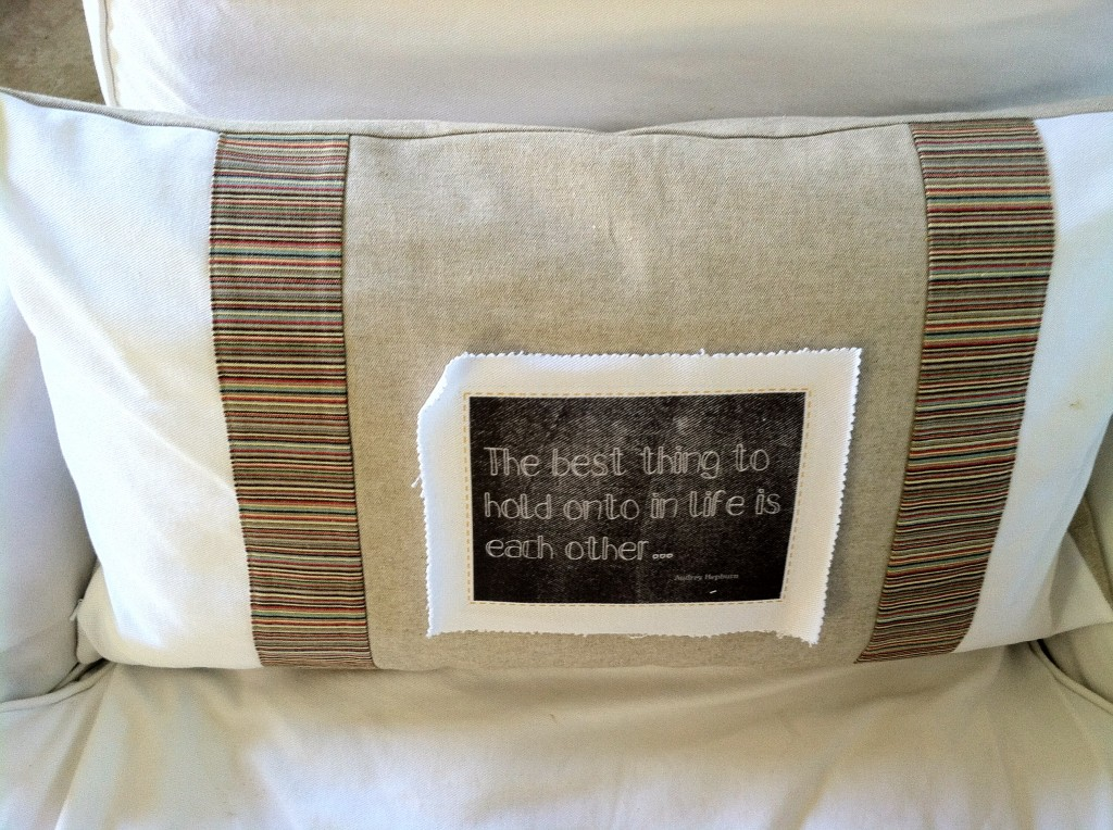 pillow by julie burlap and crystal