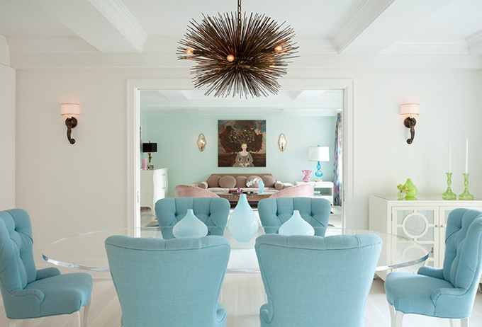 turquoise-blue-tufted-dining-chairs-with-glass-table-color-of-the-month-tantalizing-turquoise-home-design-and-decorating-ideas-trends-and-inspiration