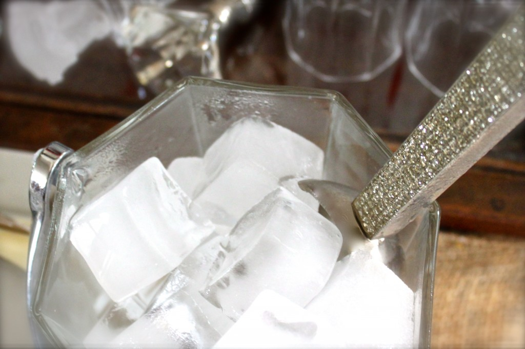 craft cocktail ice cubes