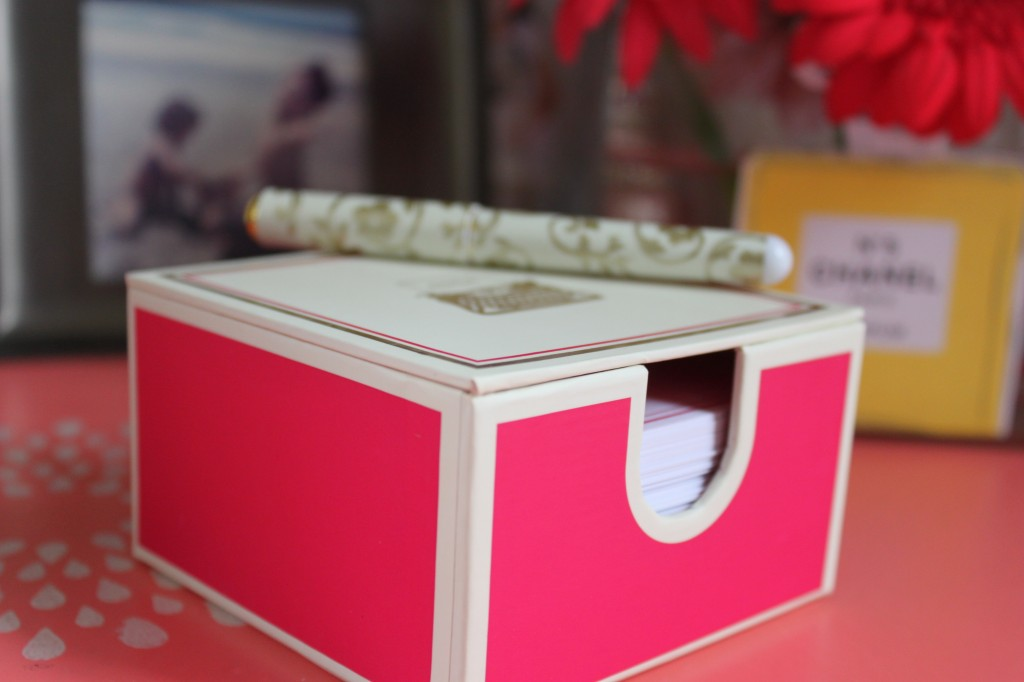 note pad box