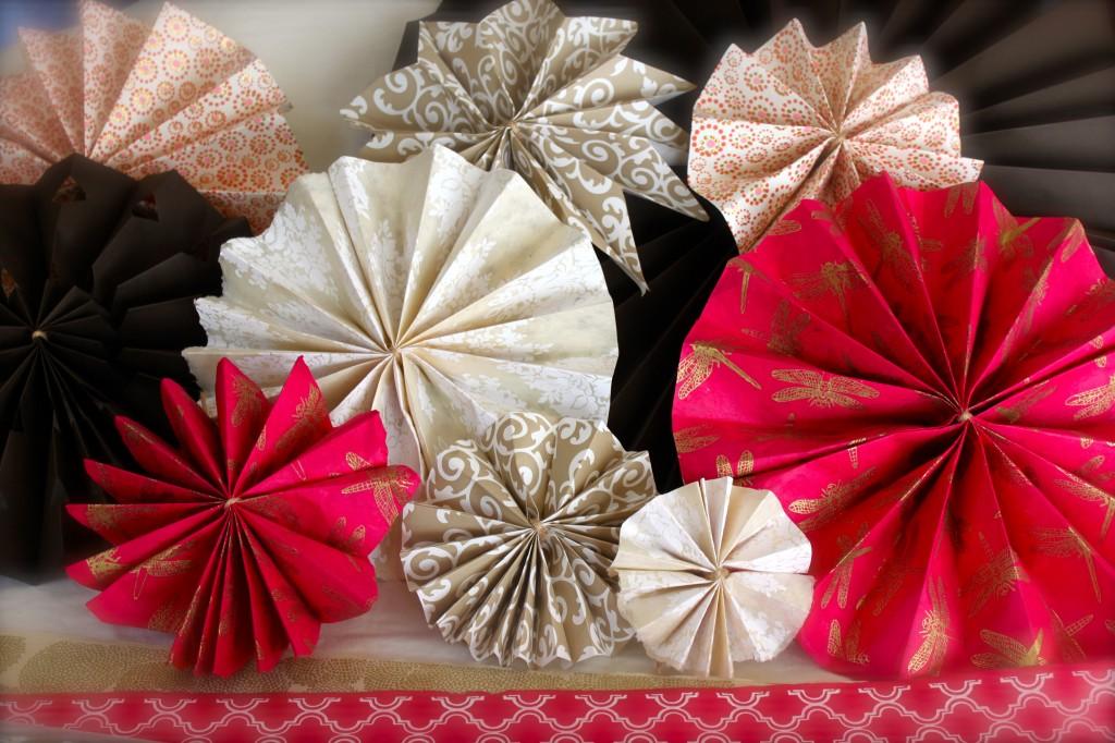 Paper fan wheels