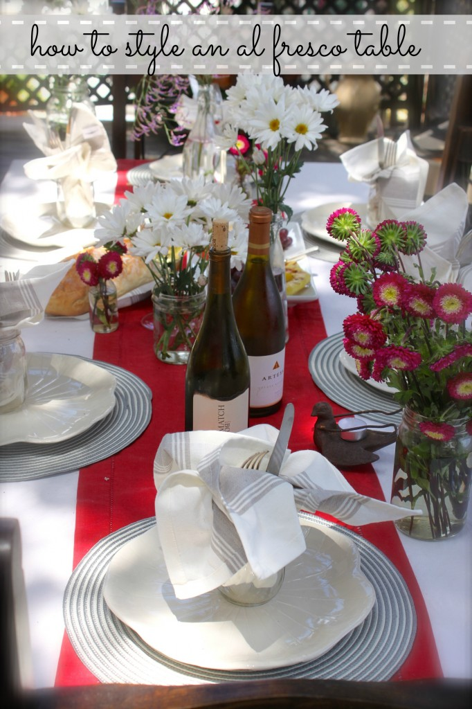 how to style an al fresco table