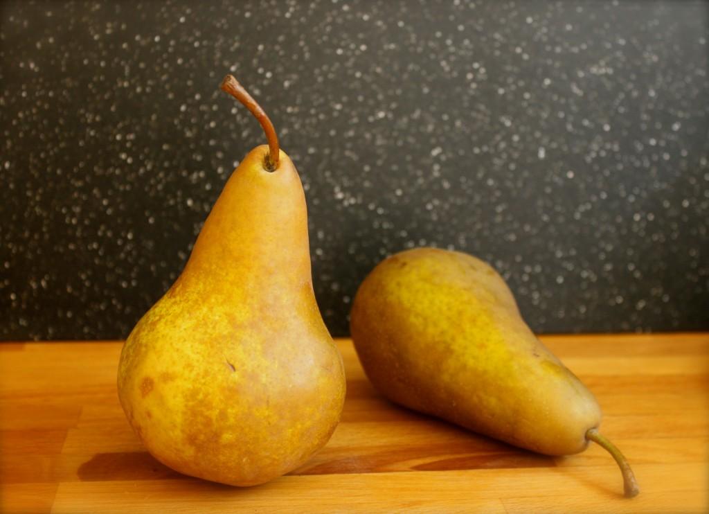 burlap and crystal pear
