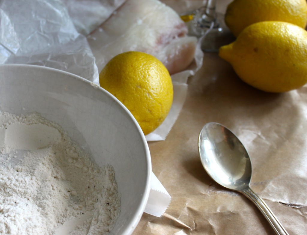 flour and lemons