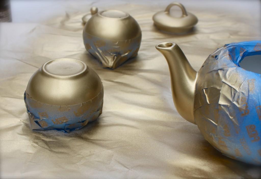 DIY little gold tea set