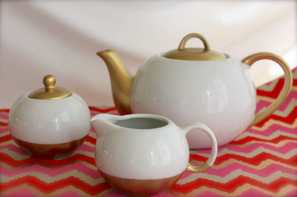 diy gold tea set