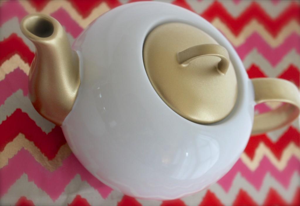 DIY little gold tea gift set.