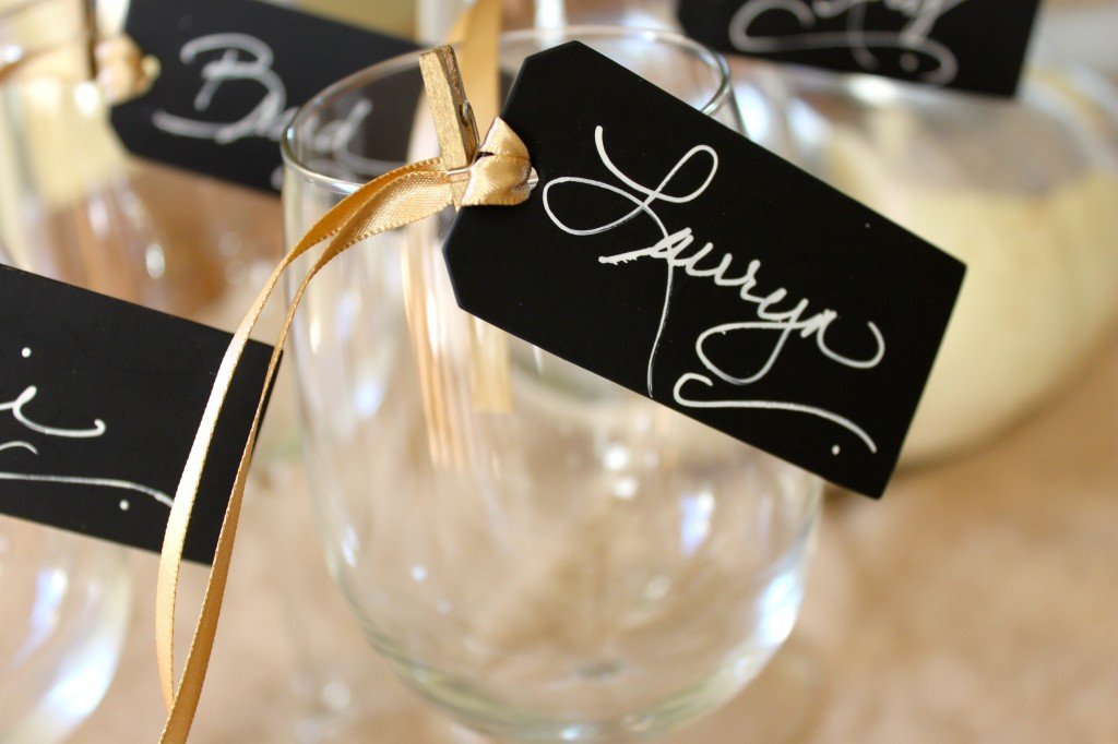 chalk board place cards