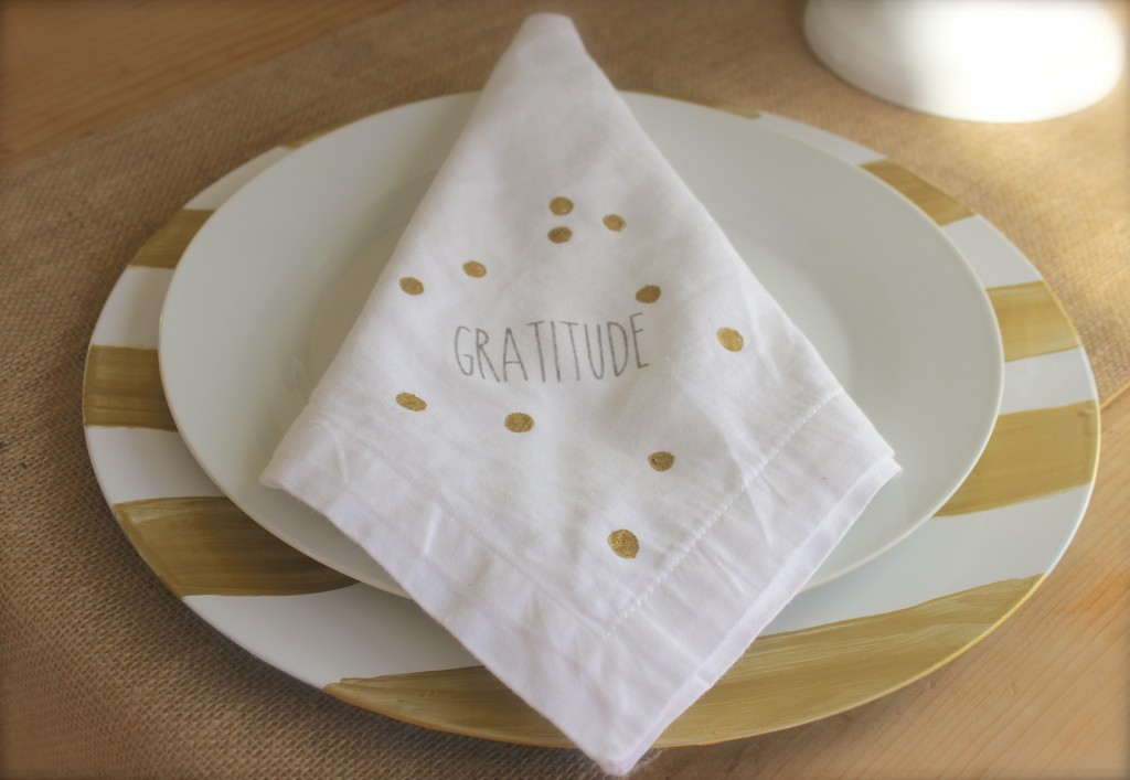 hand painted napkin