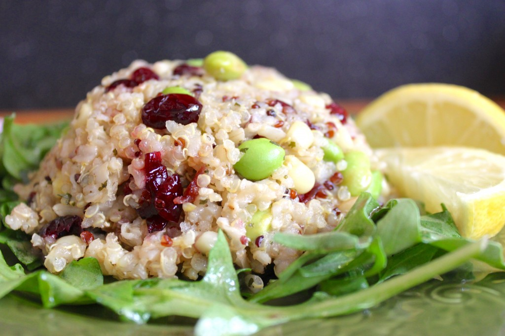 Quinoa crush salad.