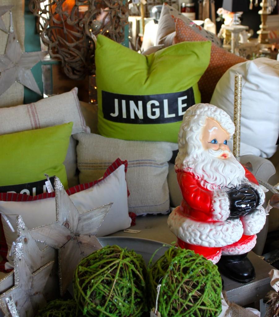 Jingle pillow burlap and crystal.com