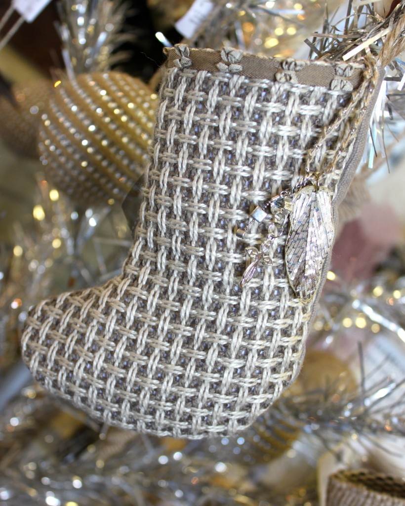 Christmas stocking burlap and crystal.com