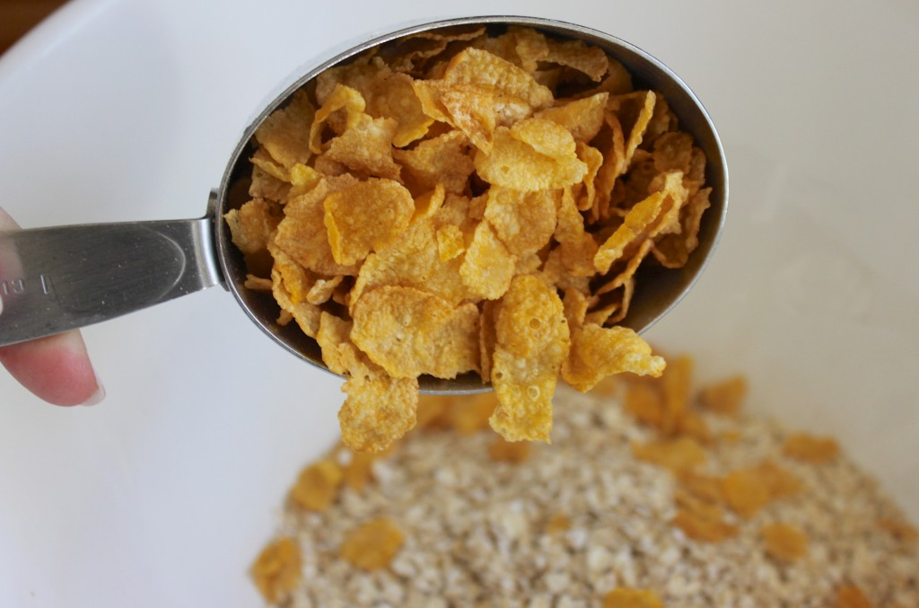 Corn flakes in granola by: Burlap and Crystal