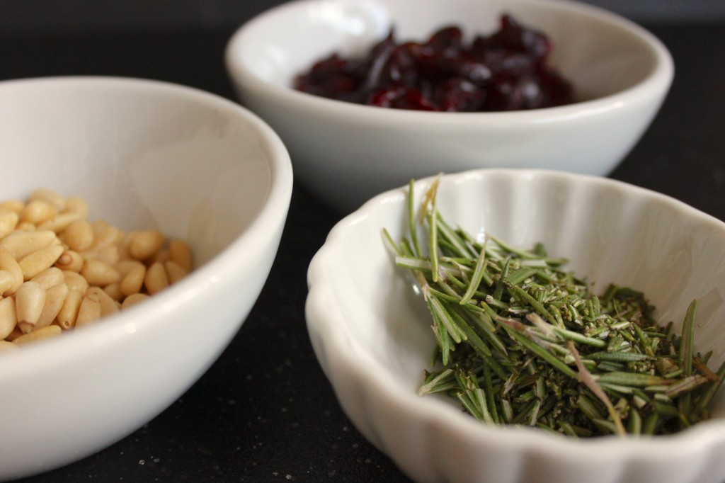 Rosemary pine nuts cranberries