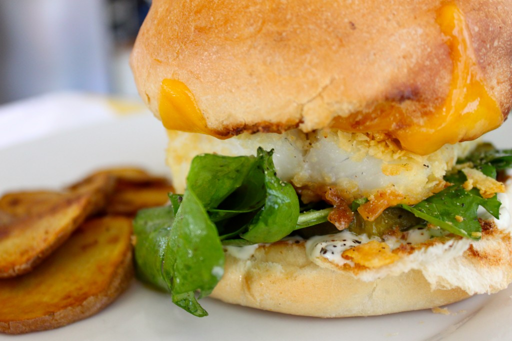 The ultimate fish fillet sandwich from Burlap and Crystal.