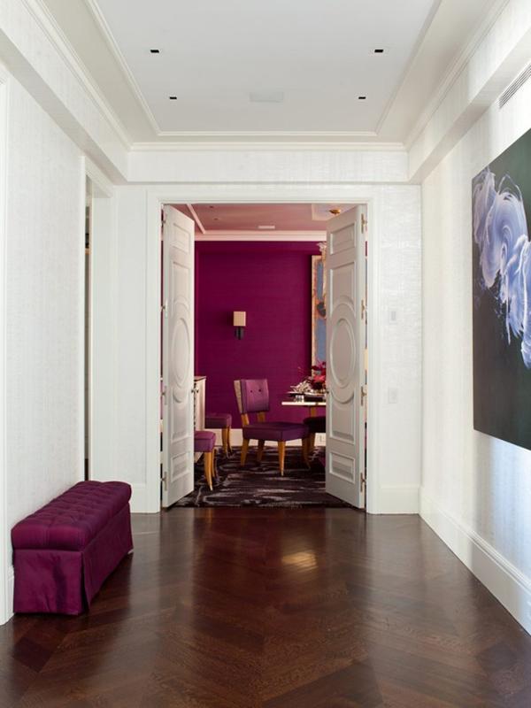 amanda nisbet design magenta pink fuschia dining room decor 1