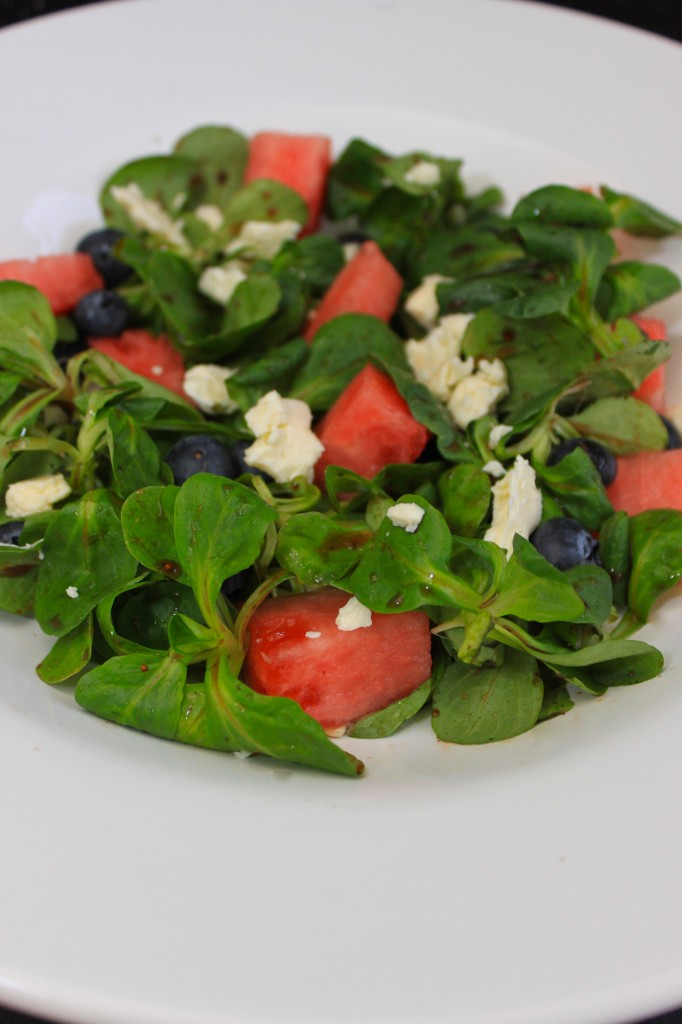 organic mache rosettes spring salad