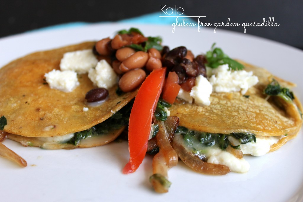 Kale garden quesadilla