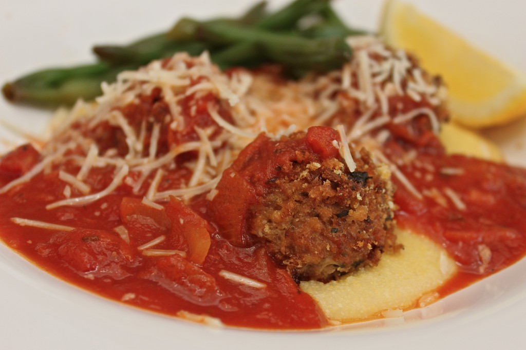 meatballs and polenta
