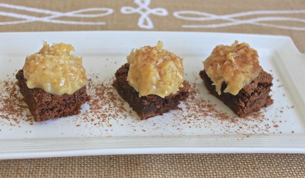 german chocolate brownie bites