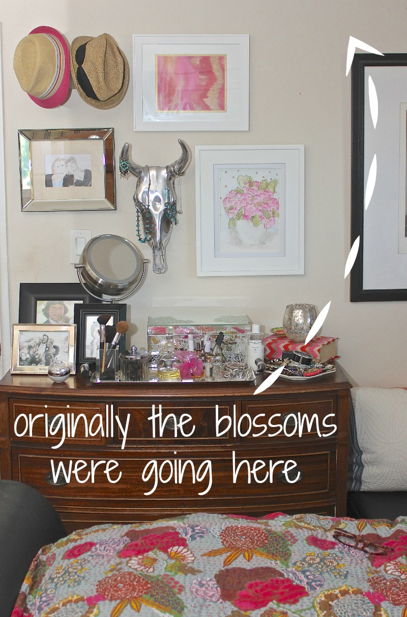 Cherry blossom decal diy project