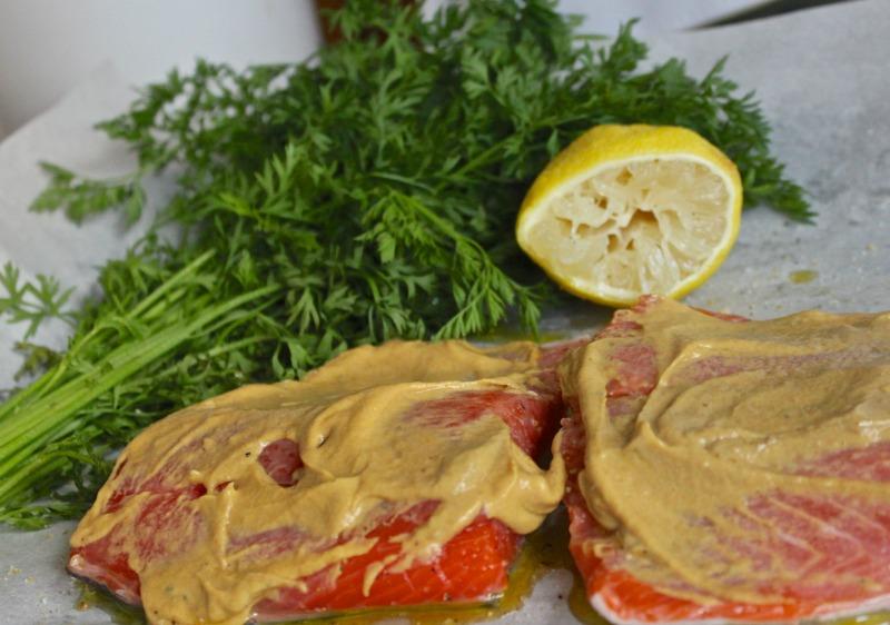 Coho salmon with mustard recipe...easy