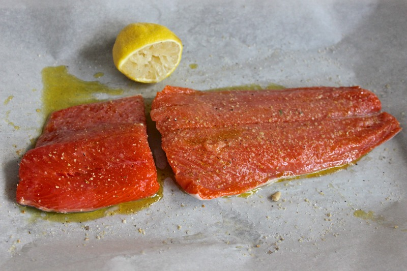 Easy coho salmon recipe. Fas and delicious