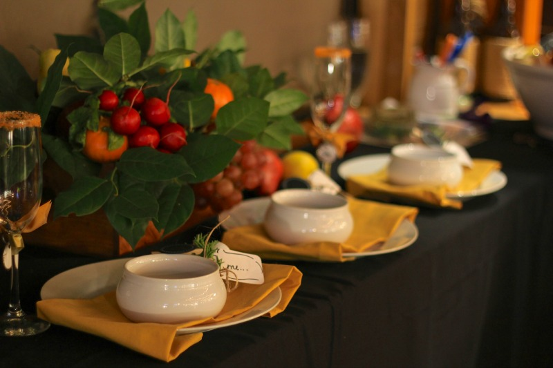 Fall table idea from Burlap and Crystal