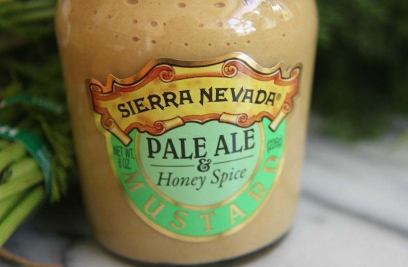 Sierra Nevada mustard. Perfect on coho salmon