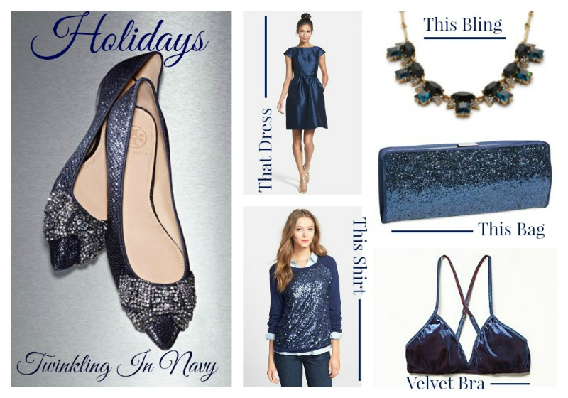 Holidays twinkling in navy 800