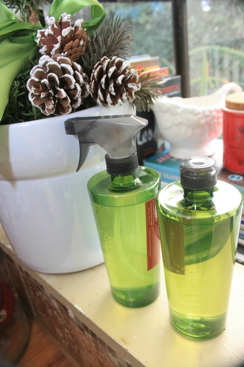 Thymes Frasier Fir holiday dish soap and cleaner. It smells amazing!