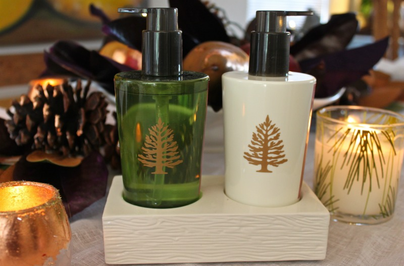 Thymes Frasier Fir scented holiday lotion and hand soap
