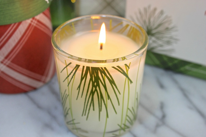 Thymes Frasier fir candle the smell of the holidays.