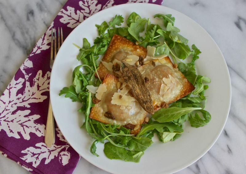 butternut squash wonton salad