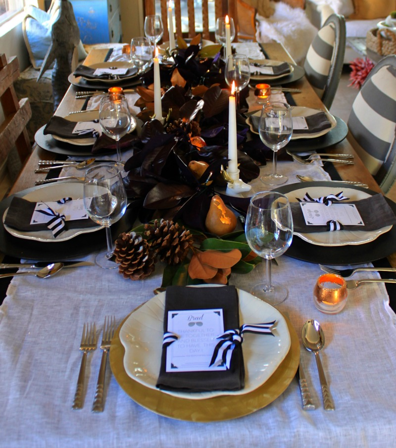 table settng thanksgiving
