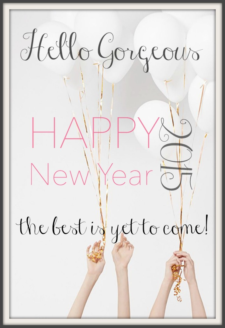 happy new years canvas frame