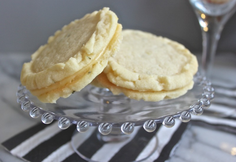 rosemary lemon curd cookies