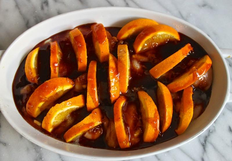 Baked orange chicken.