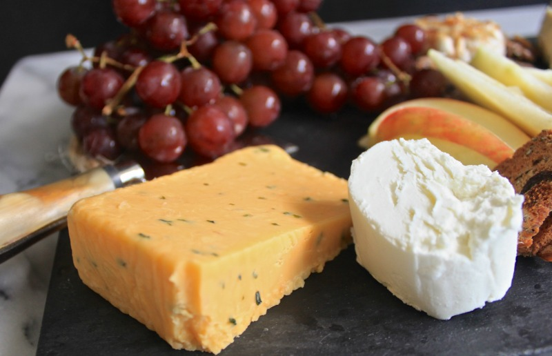English cheddar and goat cheese