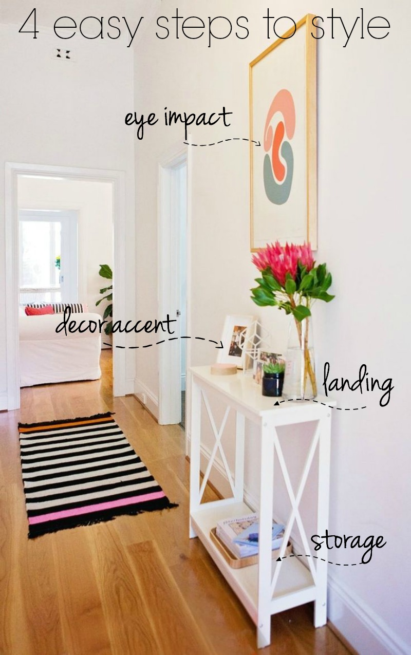 4 easy steps to styling a small space entry or foyer