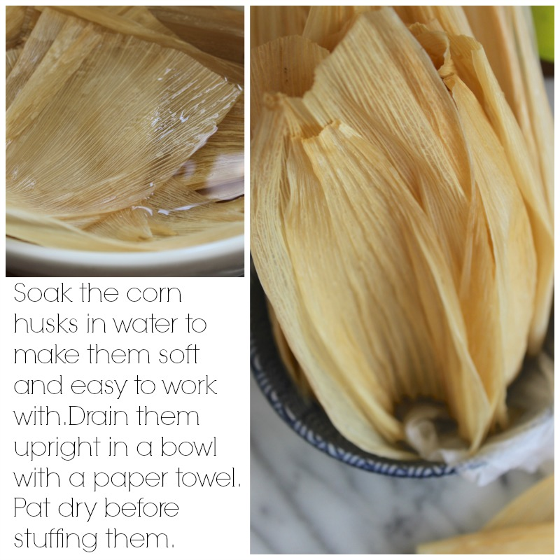 Corn husks for tamales.